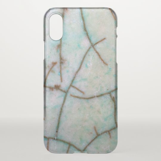 Gemstone Series - Light Turquoise Cracked iPhone X Case