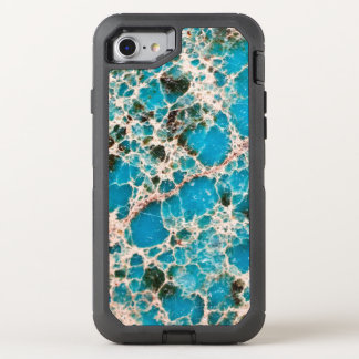 Gemstone Series - Turquoise Mosaic OtterBox Defender iPhone 7 Case