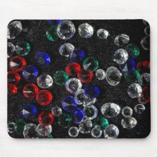 Gemstones Print Mouse Pad