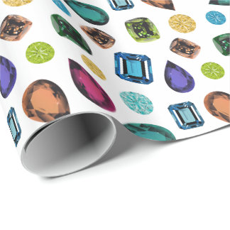 Gemstones Wrapping Paper