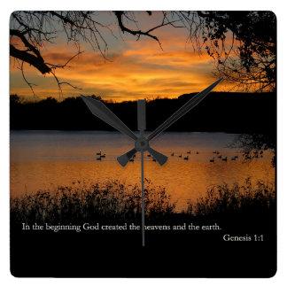 Gen 1:1 In the beginning God created Clock