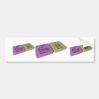 Gen as Ge Germanium and Ta Tantalum Bumper Sticker