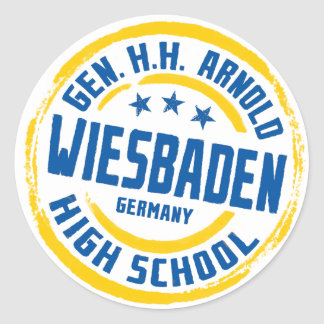 Gen HH Arnold High School Blue and Gold Classic Round Sticker
