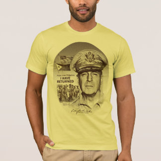 Gen. MacArthur I Have Returned (Sepia Print) T-Shirt