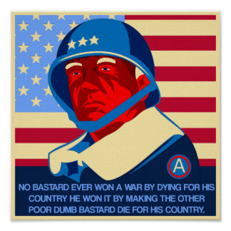 GEN Patton quote Poster