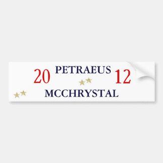 Gen. Petraeus and Gen. McChrystal for President Bumper Sticker