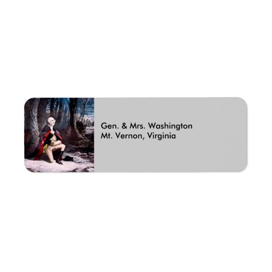 Gen. Washington Prays at Valley Forge, PA Return Address Label