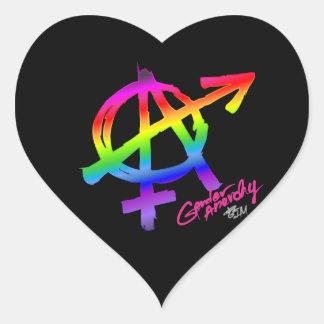 Gender Anarchy Rainbow design - heart Heart Sticker