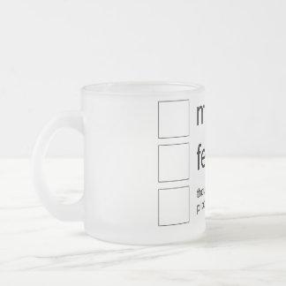 gender bug mug