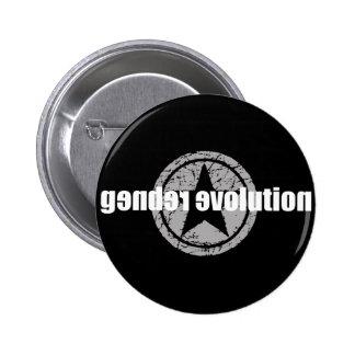 Gender Evolution Black Button