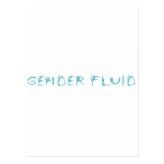 Gender fluid postcard
