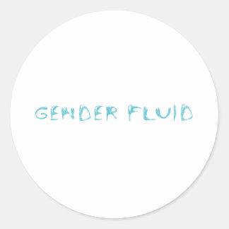 Gender fluid round sticker
