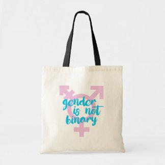 Gender is not Binary - Trans Symbol - -  Tote Bag
