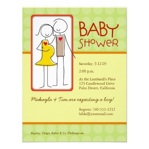 Gender Neutral Baby Shower Custom Announcement