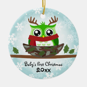 gender neutral babys first christmas owl ornament - Gender Neutral Christmas Gifts