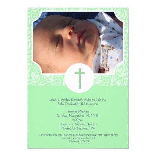 Gender Neutral Baptism / Baby Dedication 5x7 photo Custom Invitations