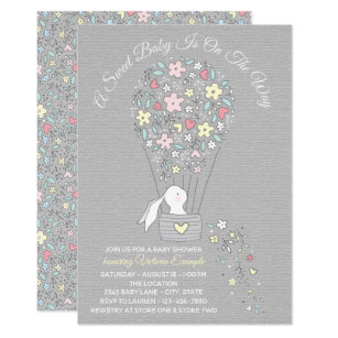 Boy baby shower invitations announcements zazzle gender neutral bunny baby shower invitations filmwisefo