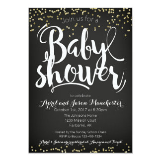 Gender Neutral Confetti Baby Shower Invitation