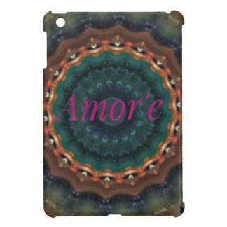 Gender Neutral Green Magenta Amor'e Mandala iPad Mini Cases