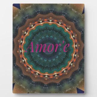 Gender Neutral Green Magenta Amor'e Mandala Plaque