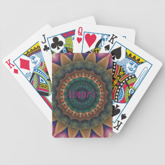 Gender Neutral Green Magenta Amor'e Mandala Poker Deck