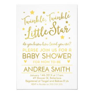 Gender neutral little star baby shower invitation