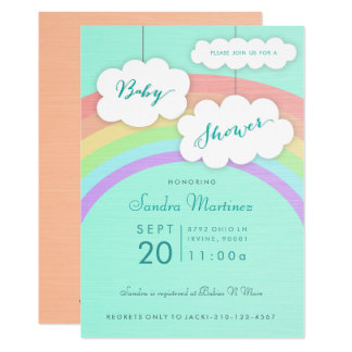Gender Neutral Rainbow | Baby Shower Invitation