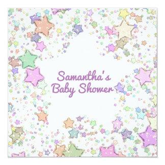 Gender Neutral/Reveal Girl/Boy Baby Shower Stars Card