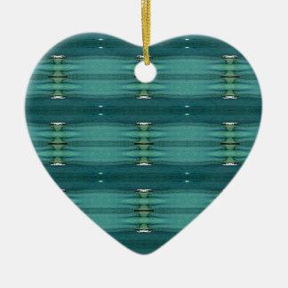 Gender Neutral Shades of Blue Modern Pattern Ceramic Ornament