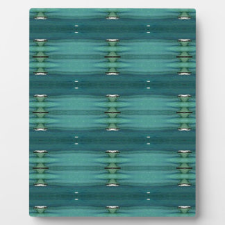 Gender Neutral Shades of Blue Modern Pattern Plaque
