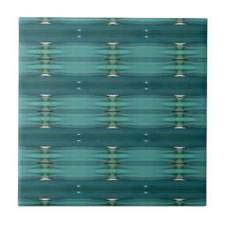 Gender Neutral Shades of Blue Modern Pattern Tile