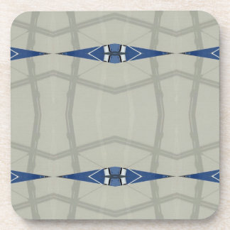 Gender Nuetral Blue Light Gray Pattern Drink Coasters
