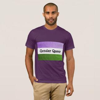 Gender Queer Flag Purple Tee
