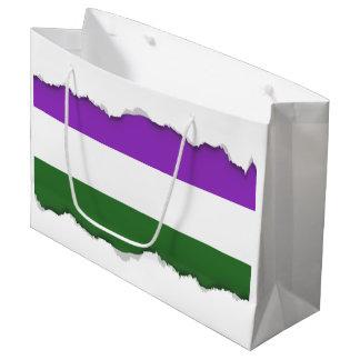 Gender Queer Pride Flag Large Gift Bag