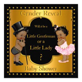 Gender Reveal Baby Shower Boy or Girl Ethnic 13 Cm X 13 Cm Square Invitation Card