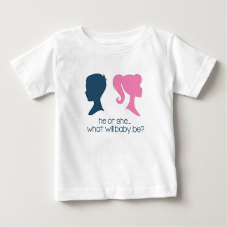 "Gender Reveal Baby Shower ""He or She"" T-Shirt"