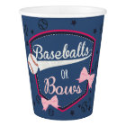 Gender reveal Baseball or bow Paper Cup