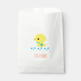 Gender Reveal - Boy Yellow Ducky Favour Bag
