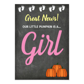 Gender Reveal Fall Pumpkin Announcement