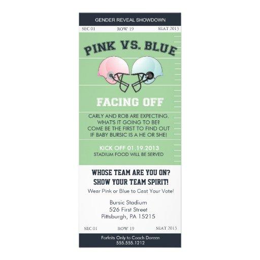 Gender Reveal Football Ticket Baby Shower Invitati Personalized Invitation