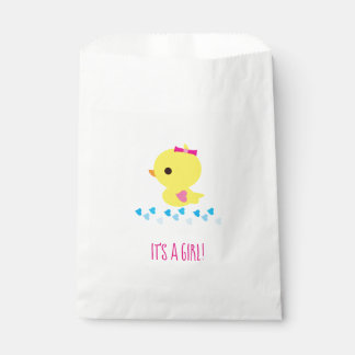 Gender Reveal - Girl Yellow Duckie Favour Bag