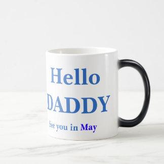 Gender Reveal Hello Daddy Pregnancy FULL Coffee Magic Mug
