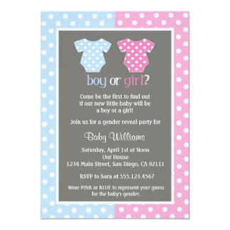 Gender Reveal Party Baby Shower Invitations