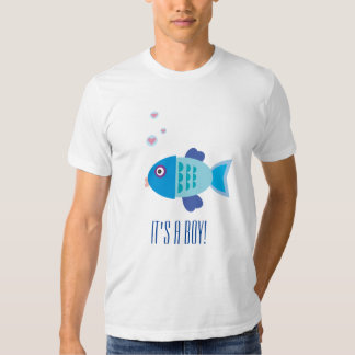 Gender Reveal Party - Blue Baby Fish - Boy T-shirt