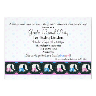 Gender Reveal Party Elephant Walk Invitation