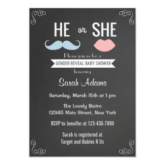 Gender Reveal Party Invitation Chalkboard