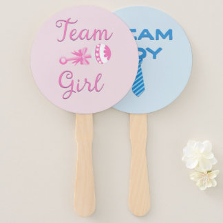 Gender Reveal Undecided Hand Fan