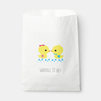 Gender Reveal - Waddle It Be Yellow Ducks Favour Bag