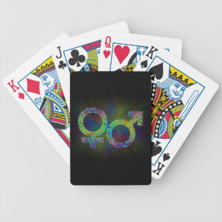 Gender symbols. bicycle playing cards