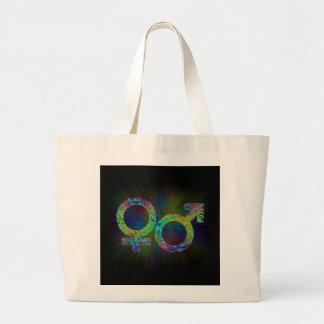 Gender symbols. large tote bag